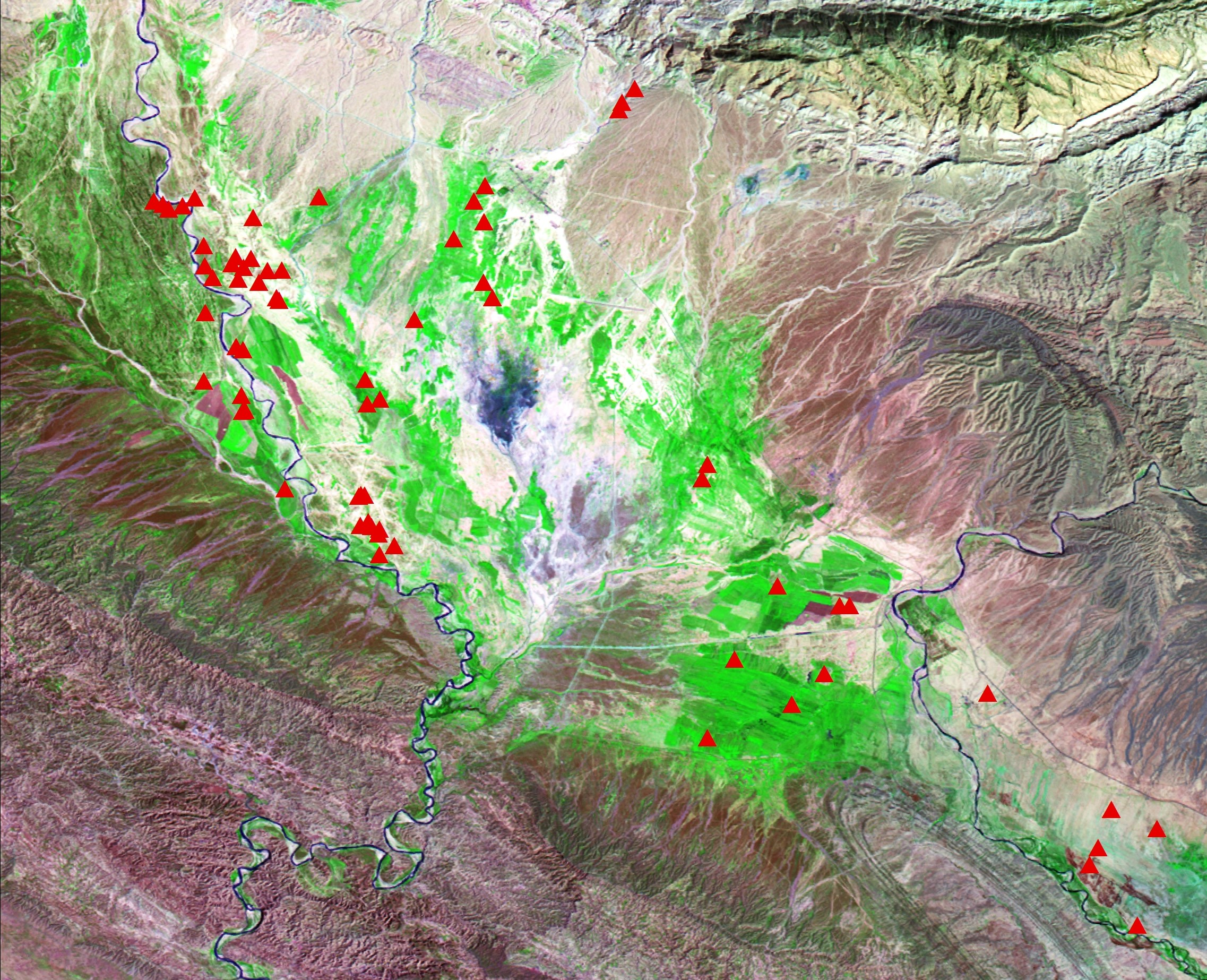 Analysis of Land, Water, and Settlement Through Remote Sensing and Ground Survey: