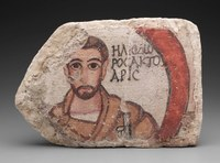 Clay, with a Layer of Painted Plaster, H. 30.5 cm, W. 44.0 cm, D. 6.7 cm From the House of the Scribes, Dura-Europos, 200–256 CE Yale University Art Gallery, Yale-French Excavations at Dura-Europos: 1933.292 Photography © 2011 Yale University Art Gallery