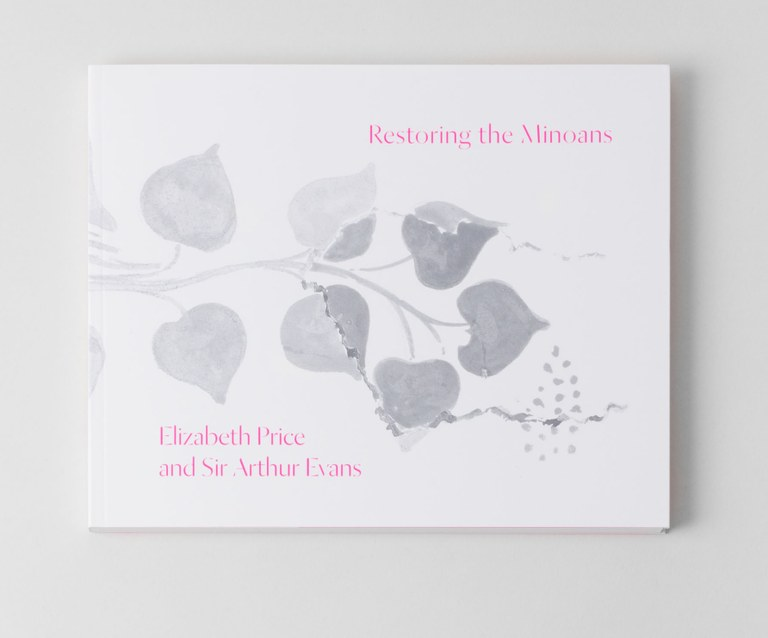 Cover of the catalogue, which features a drawing of leaves on a branch and the title and the names Elizabeth Price and Sir Arthur Evans.
