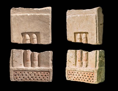 Two Fragments of Relief of Two Phalli