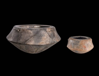 Two Carinated Bowls with Incised Decoration