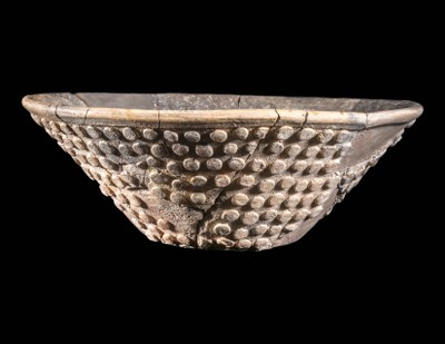 V Shaped Bowl with Pellet Decoration