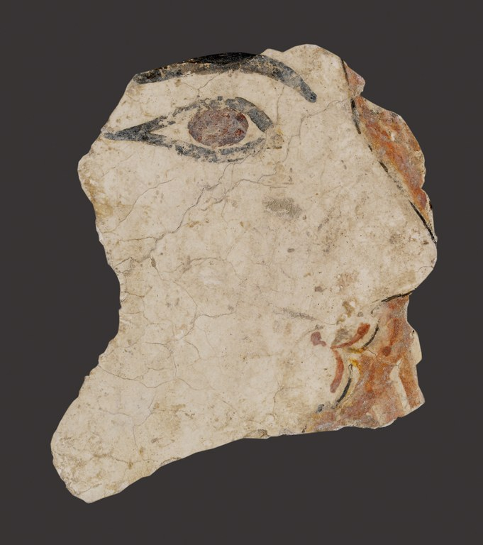 Fresco Fragment Depicting a Woman's Face in Profile