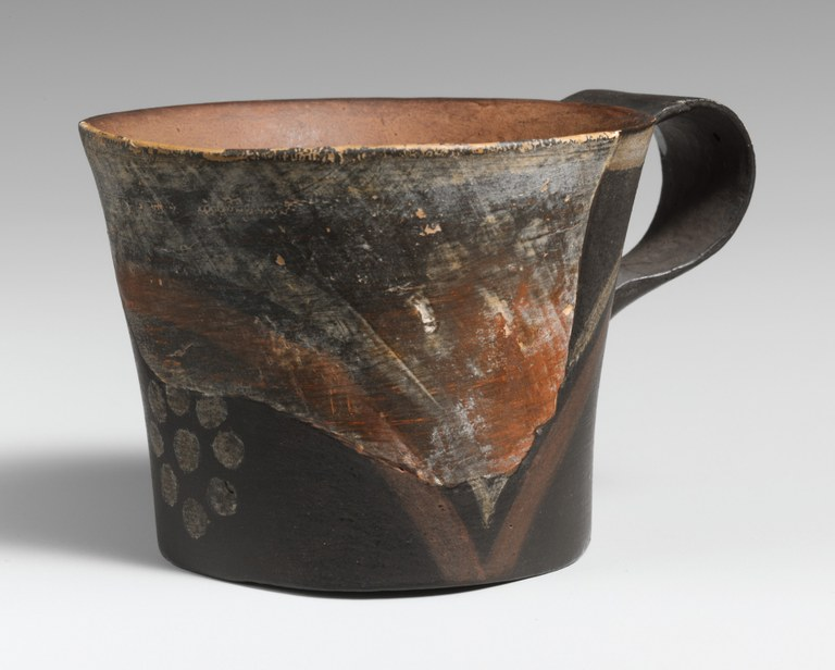 Restored Kamares Ware Straight-Sided Cup