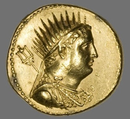 Octadrachm. Obverse: Bust of Ptolemy III. Gold, Minted in Alexandria. 221-205 BCE. Gift of Martin A. Ryerson. Courtesy of the Art Institute of Chicago.