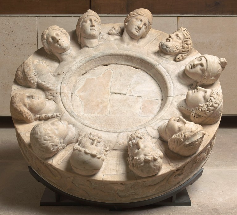 """""""Altar"""" with Zodiacal Frieze and Heads of the Twelve Gods"""