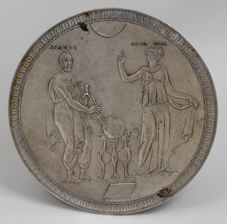 Byzantine Silver Plate Depicting Aratus and Urania