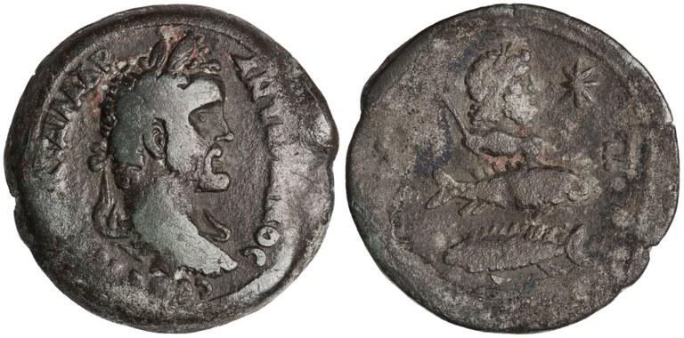 Drachma Issued by Antoninus Pius: (obverse) Bust Laureate