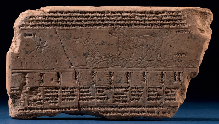 Late Babylonian Astrological Tablet with Drawings of Constellations and Planets