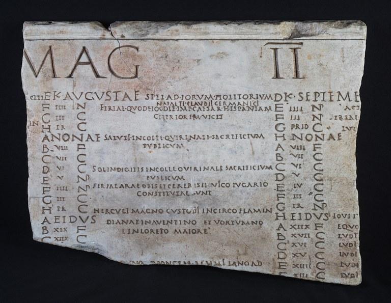 Roman Calendar.Roman Calendar Fasti Vallenses Institute For The Study Of The