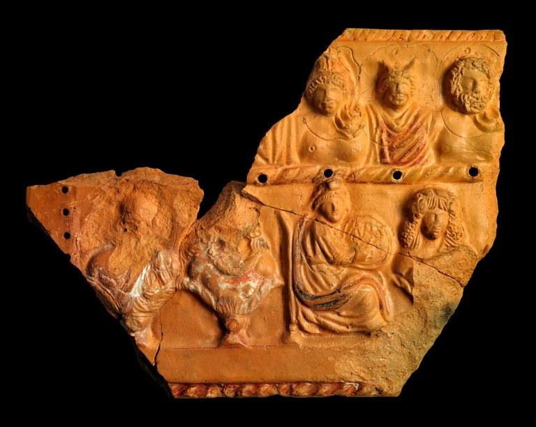 Roman Ceramic Parapegma with Weekday Gods, Seasons, and Lunar Days