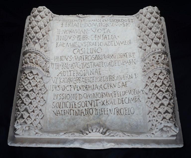 Roman Inscription Concerning Festivals (Feriale Campanum)