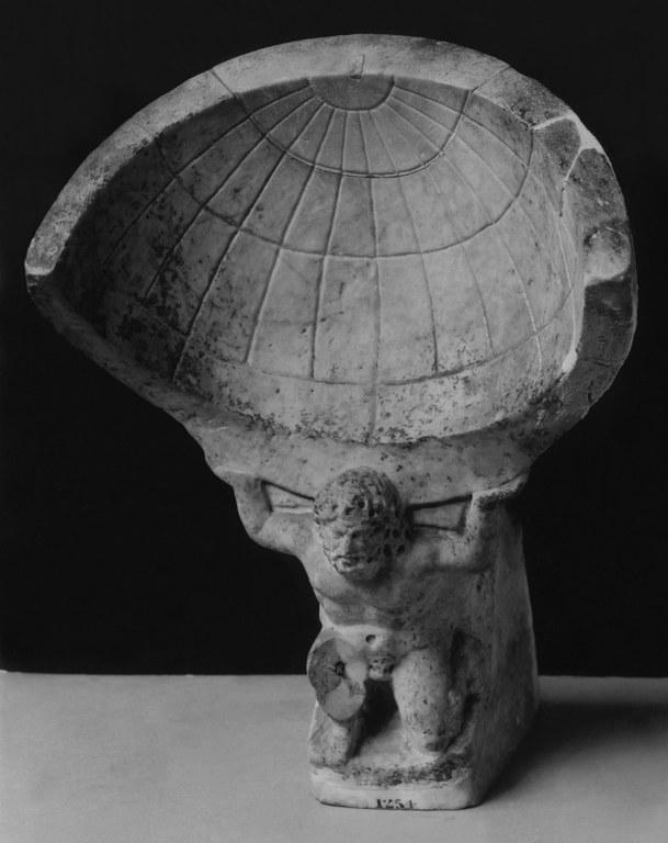 Statuette of Atlas Bearing Ornamental Spherical Sundial