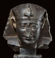 Basalt, H. 26 cm; W. 26.7 cm; D. 20.1 cm.  Egypt 304–200 BCE.  Anonymous Loan: 20.2012.