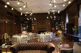 Oak Library round dinner