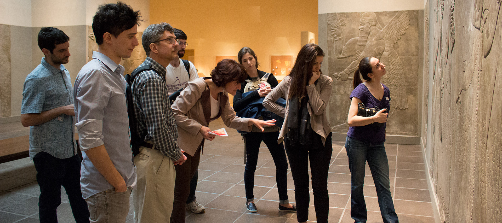 Professor Luciani with students at the MET