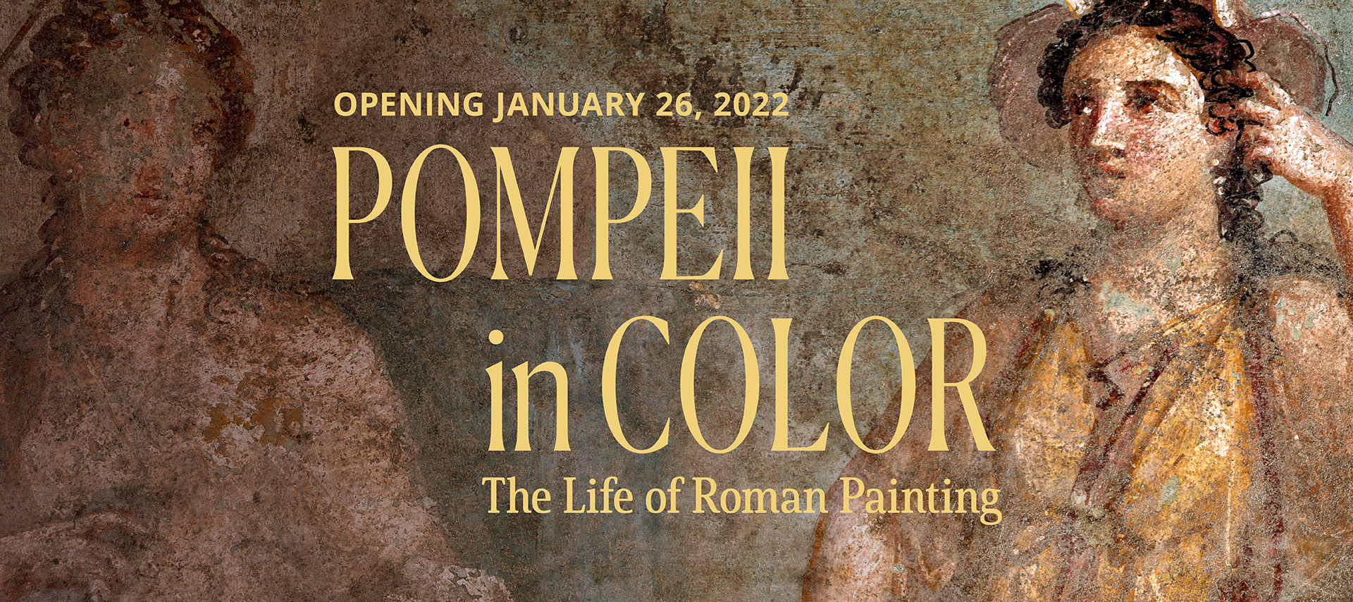 Announcing the next upcoming exhibition, Pompeii in Color, The Life of Roman Painting