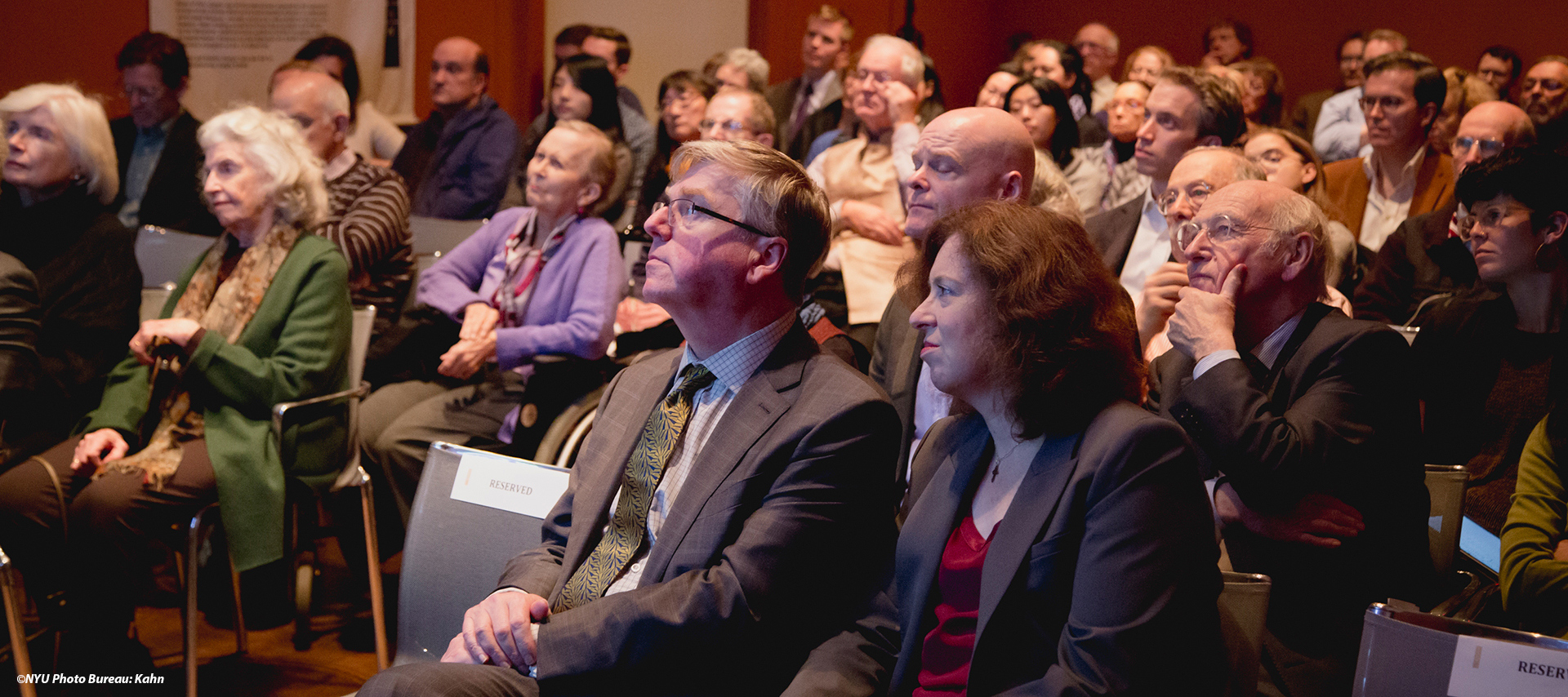 members of the audience at a lecture event