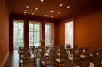 Photo of ISAW Lecture Hall before a lecture