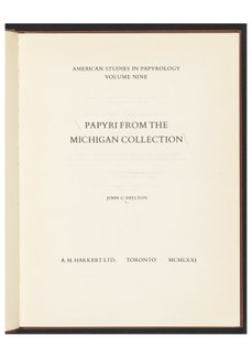 American Studies in Papyrology now available in the Ancient World Digital Library