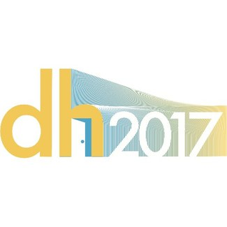 Logo for the conference, which is a stylized representation of the text dh2017