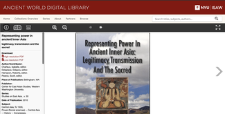 This screenshot of the AWDL site shows one of the recently added titles, Representing Power in Ancient Inner Asia