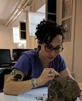 Tisa Loewen hard at work in the lab