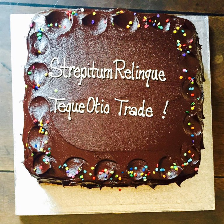 Bagnall retirement cake