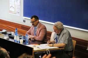 David Ratzan and Peter van Minnen at the 28th International Congress of Papyrologists, Barcelona, 2016
