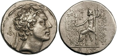 Antiochus IV Epiphanes (175-164 BCE). AR Tetradrachm, Akko-Ptolemais, ca. 168-164 BCE (Mørkholm 14)