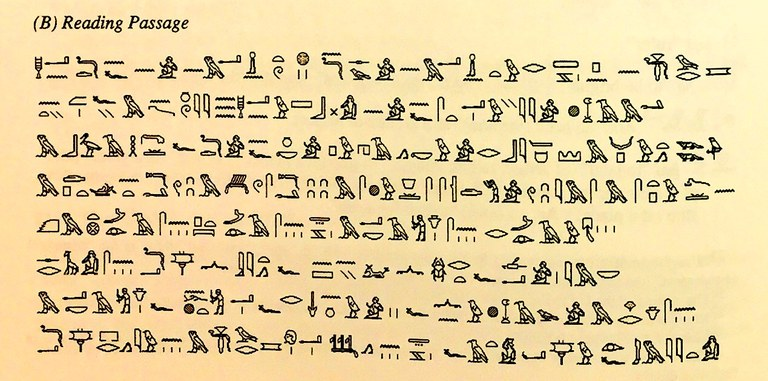 Reading exercise from Hoch's Middle Egyptian Grammar