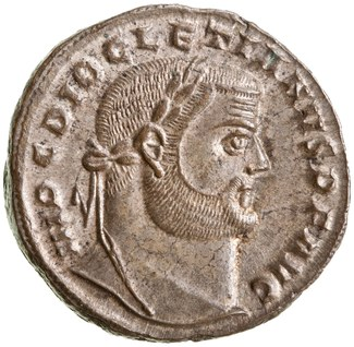 Bronze AE1 of Diocletian, Alexandria, AD 301.
