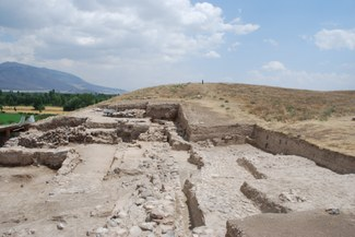 A Hellenistic-era temple uncovered at the excavation at Kinik Hoyuk in Turkey