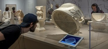 Animated Shadows on Virtual Stone: Ancient Sundials in a Gallery Setting