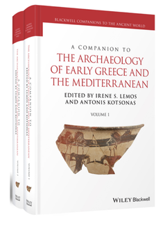 "Cover of Antonis Kotsonas book ""A Companion to the Archaeology of Early Greece and the Mediterranean"""