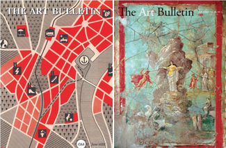 Two covers of previous The Art Bulletin publications