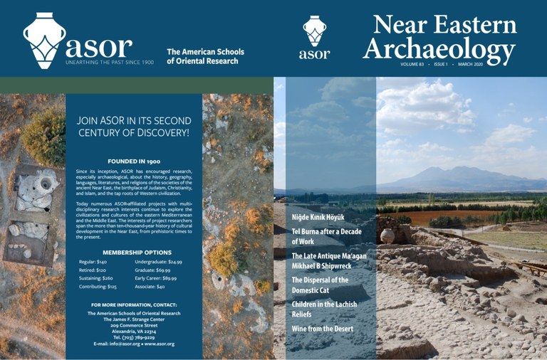 The cover of the current issue of Near Eastern Archaeology