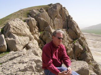 Prof. Dan Potts at the Elamite rock-relief of Kurangun in Fars Province, Iran.