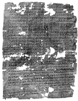Photograph of an ancient document. See caption for further information.