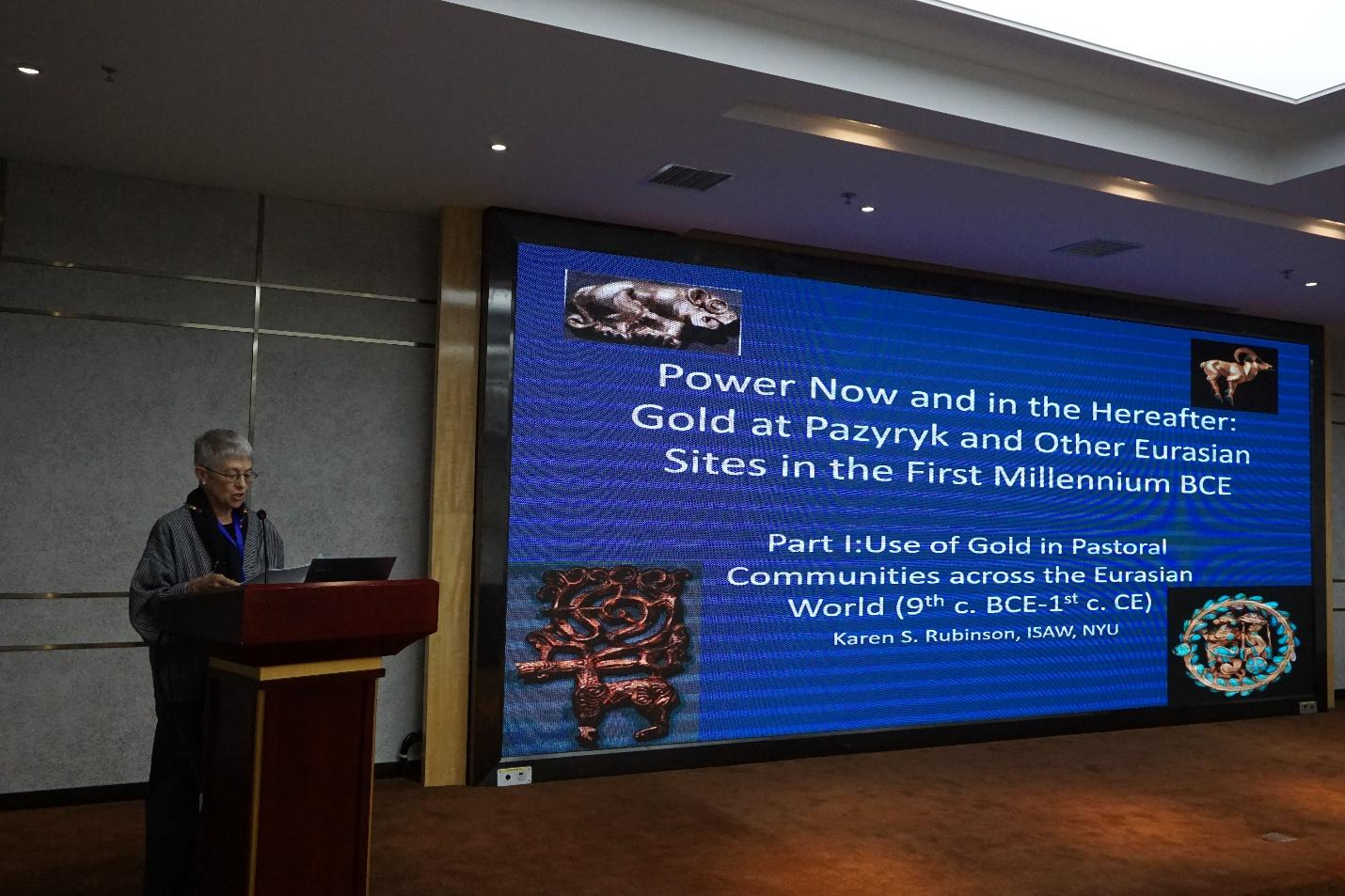 """Karen Rubinson (Research Associate, ISAW) participates in """"Technology, Art and Archaeology – Contacts between East and West in Ancient Gold"""" conference in Xi'an, China"""
