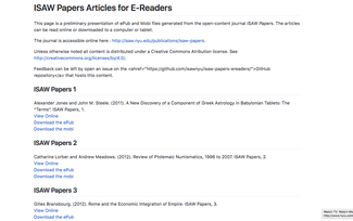 ISAW Papers and the Future of Scholarly Publishing