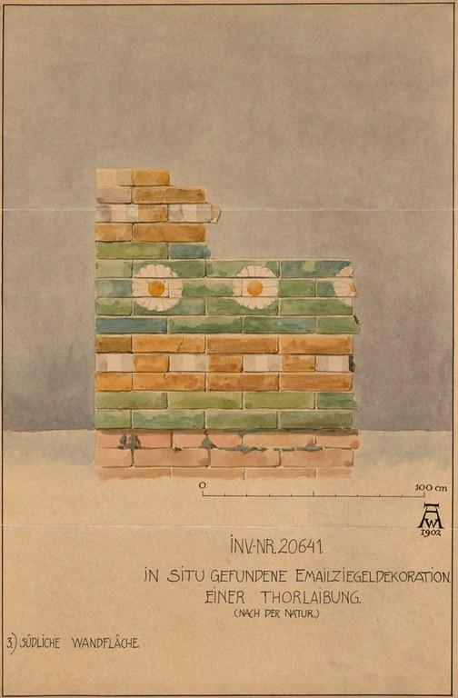 Glazed Brick Wall