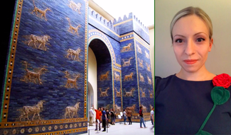 screenshot image of Anastasia's discussion on why the Ishtar Gate is blue