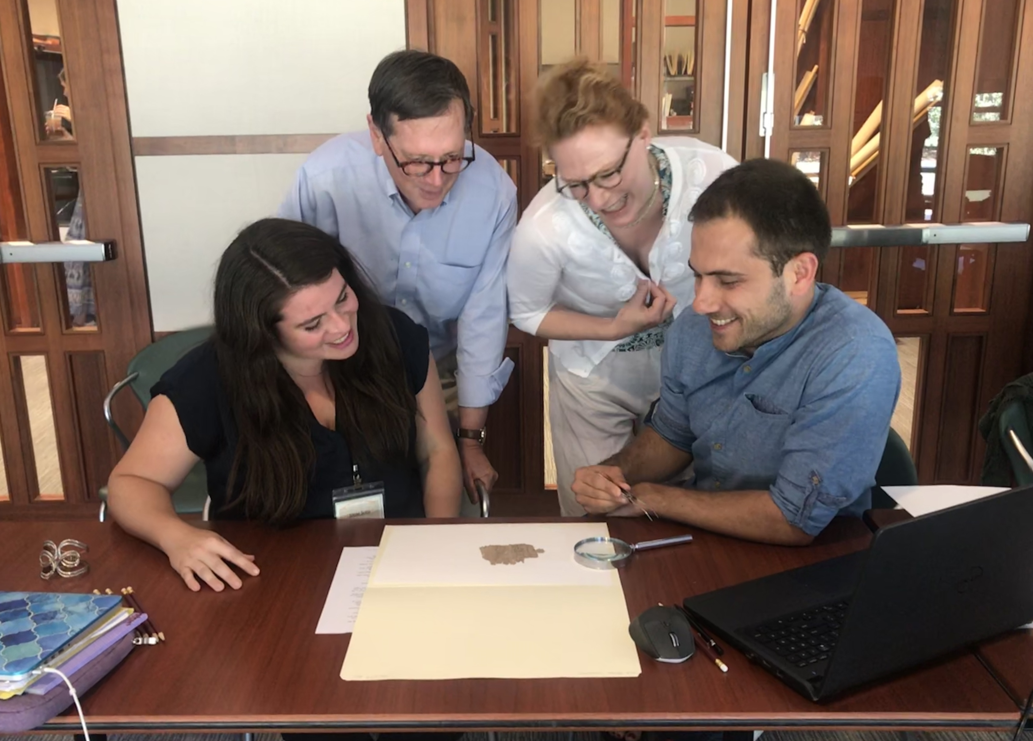 Soto Marin and Tsolakis Participate in the Summer Institute in Papyrology at Washington University