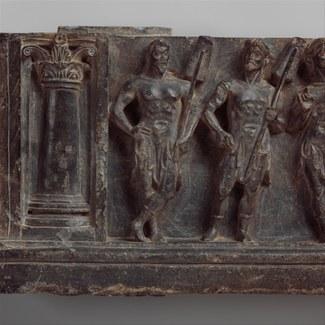 Stair riser with maritime divinities, Gandhara, c. first century CE (Metropolitan Museum 13.96.21) [Copyright: Metropolitan Museum of Art, open source]
