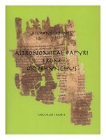 book cover from Astronomical Papyri from Oxyrhynchus