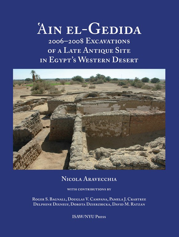 Cover of the book, which displays the title and author's name in white text on a blue background. A photograph of ancient stone walls occupies the center of the image.