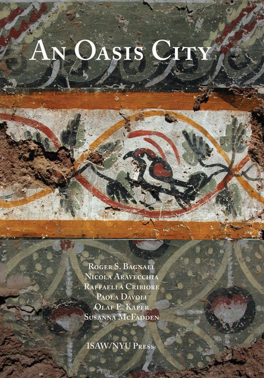 Cover of the Oasis City which features a mosaic from Amheida.
