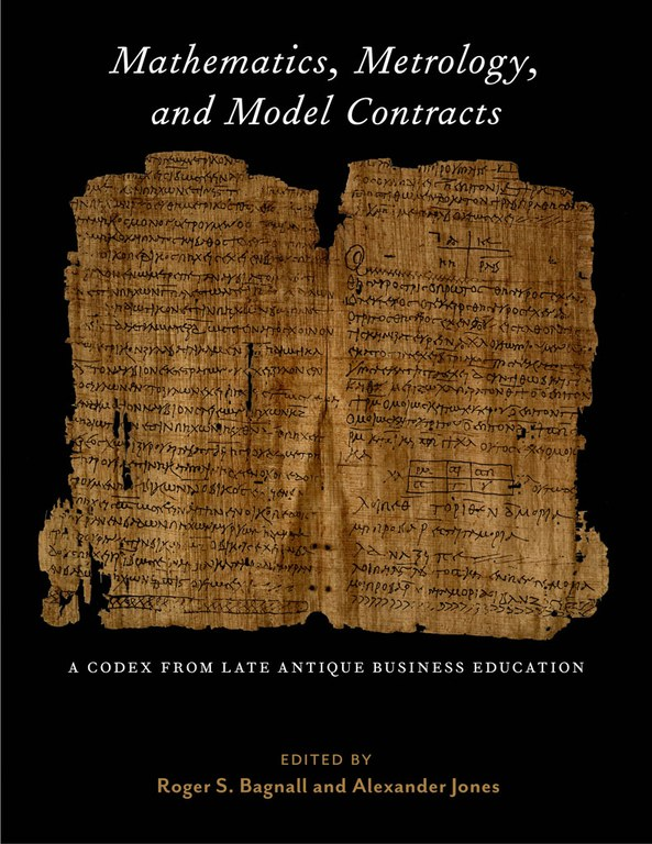 Cover of the book, which displays the title and authors' names in white and gold text on a black background. A large photograph of a two-page spread from the codex appears in the middle of the cover.