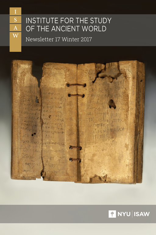 Cover image: title and logos overlayed on a photograph of rectangular wood tablets that are missing pieces. The tablets are bound together with cord along the long axis. The visible faces of two of the wooden tablets display writing in faded ink.